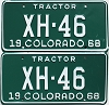 1968 Colorado Tractor pair low # XH-46, Chaffee County
