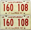 1968 Illinois pair #160 108