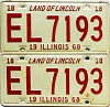 1968 Illinois pair #EL 7193