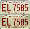 1968 Illinois pair #EL 7585
