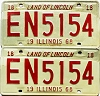 1968 Illinois pair #EN 5154
