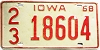 1968 Iowa #29695, Scott County