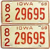 1968 Iowa pair #29695, Scott County