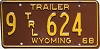 1968 Wyoming Trailer #624, Big Horn County