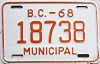 1968 British Columbia Municipal # 18738