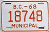 1968 British Columbia Municipal # 18748