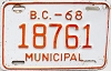 1968 British Columbia Municipal # 18761