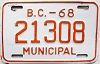 1968 British Columbia Municipal # 21308