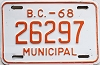 1968 British Columbia Municipal # 26297