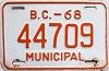 1968 British Columbia Municipal # 44709