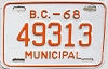 1968 British Columbia Municipal # 49313