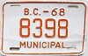 1968 British Columbia Municipal # 8398