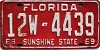 1968 FLORIDA license plate # 12w4439, Lake County