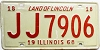 1968 Illinois # JJ 7906