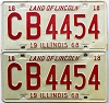 1968 Illinois pair # CB 4454