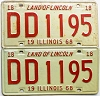 1968 Illinois pair # DD 1195