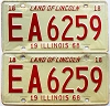 1968 Illinois pair # EA 6259