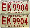 1968 Illinois pair # EK 9904