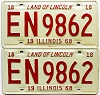 1968 Illinois pair # EN 9862