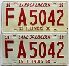 1968 Illinois pair # FA 5042
