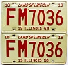 1968 Illinois pair # FM 7036