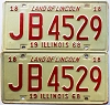 1968 Illinois pair # JB 4529