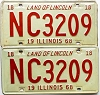 1968 Illinois pair # NC 3209