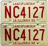 1968 Illinois pair # NC 4127