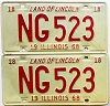 1968 Illinois pair # NG 523