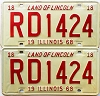 1968 Illinois pair # RD 1424