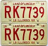 1968 Illinois pair # RK 7739