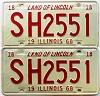 1968 Illinois pair # SH 2551