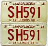 1968 Illinois pair # SH 591