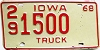 1968 Iowa Truck # 1500, Des Moines County