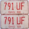 1968 Ohio pair # 791-UF