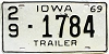 1969 Iowa Trailer # 1784, Des Moines County
