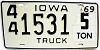 1969 Iowa 5 Ton Truck # 1531, Henry County