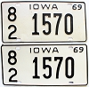 1967 Iowa pair #1570, Scott County