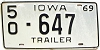 1969 Iowa Trailer # 647, Jasper County