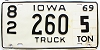 1969 Iowa Truck #260, Scott County