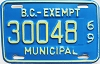 1969 British Columbia Municipal Exempt # 30048