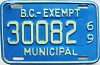 1969 British Columbia Municipal Exempt # 30082