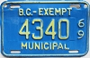 1969 British Columbia Municipal Exempt # 4340