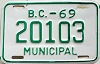 1969 British Columbia Municipal # 20103