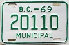 1969 British Columbia Municipal # 20110