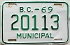 1969 British Columbia Municipal # 20113