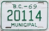 1969 British Columbia Municipal # 20114