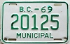 1969 British Columbia Municipal # 20125