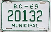 1969 British Columbia Municipal # 20132
