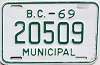 1969 British Columbia Municipal # 20509